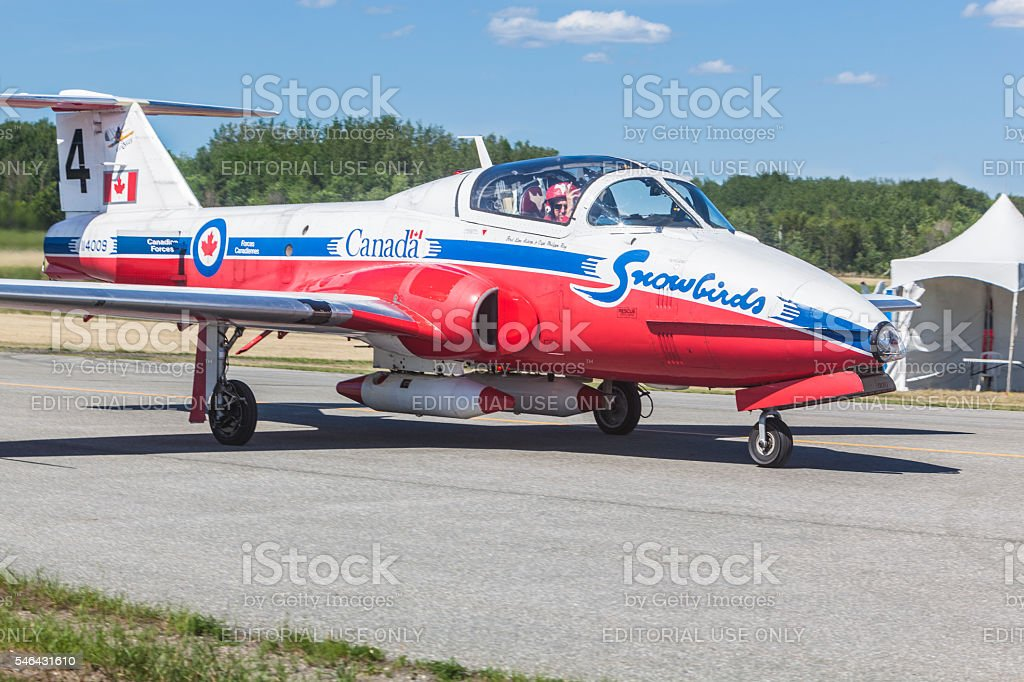 Canadian Forces Snowbirds number 4 stock photo