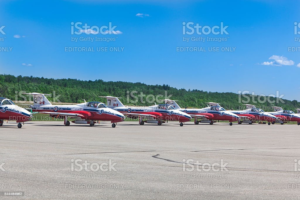 Canadian Forces Snowbirds stock photo
