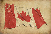 Canadian Grunge Flag Textured Background Wallpaper