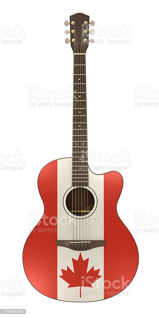 Canadian Guitar royalty-free stock photo