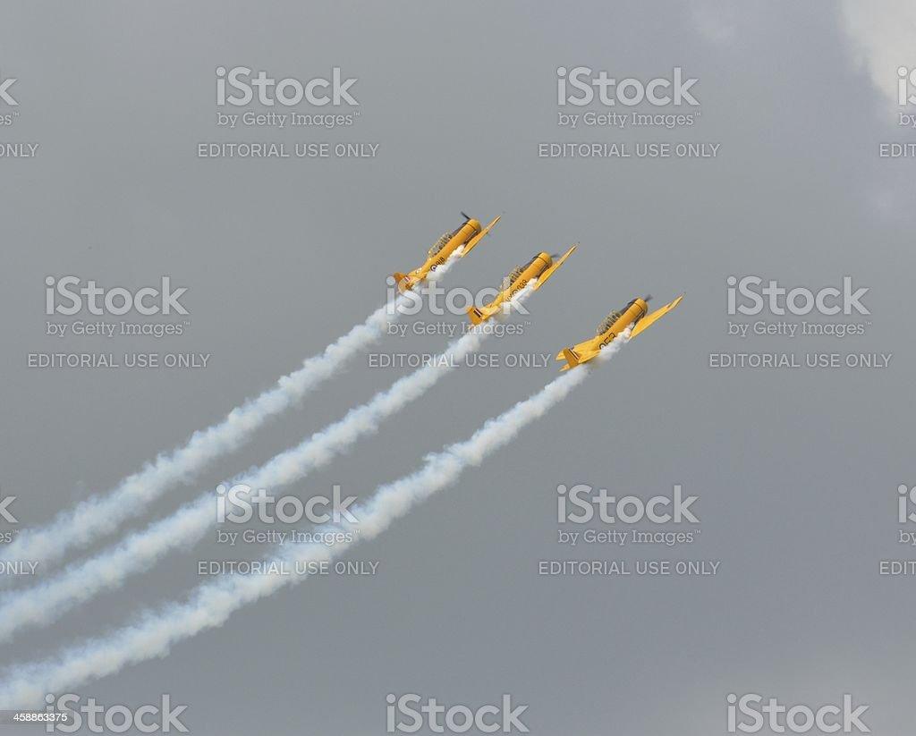Canadian Harvard Aerobatic team royalty-free stock photo