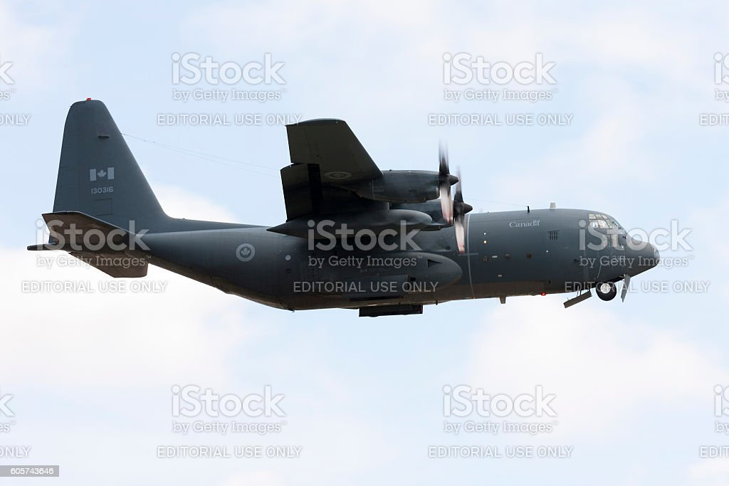 Canadian Hercules taking off stock photo