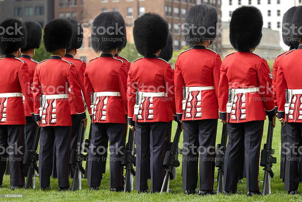 Canadian Honor Guards stock photo
