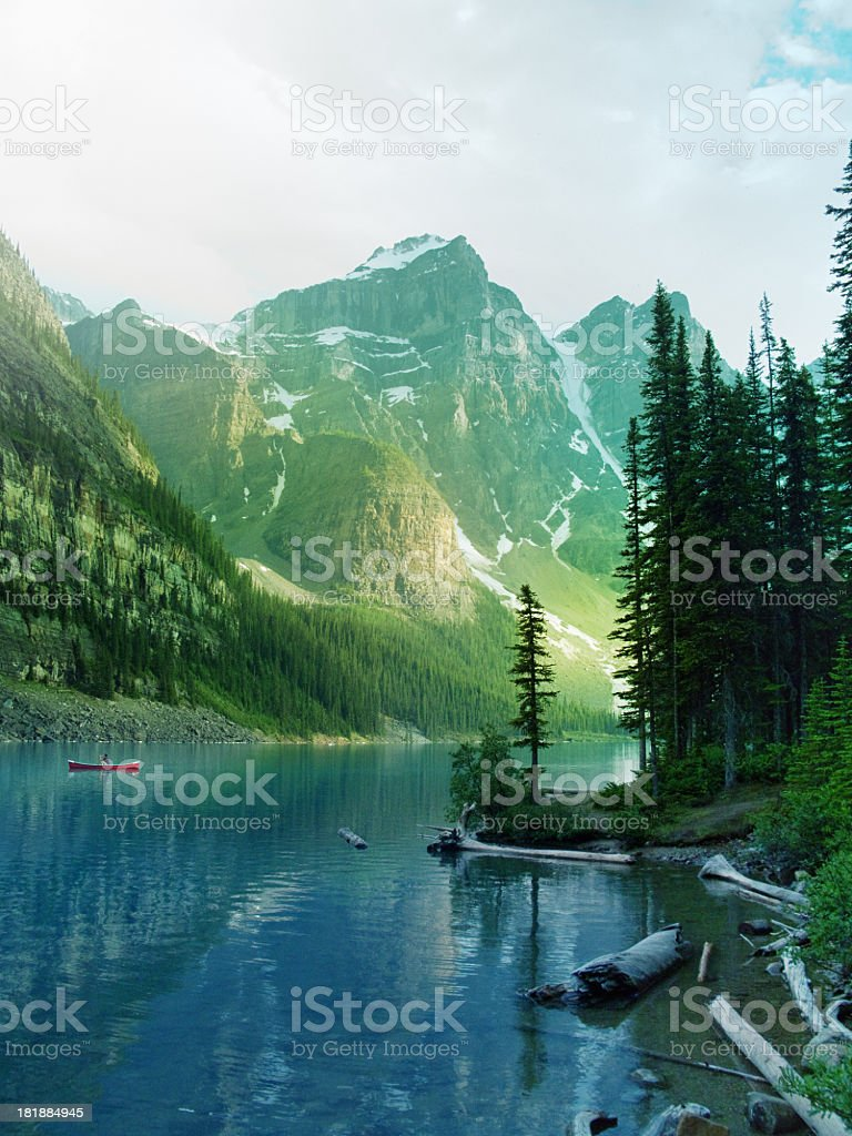 Canadian lake stock photo