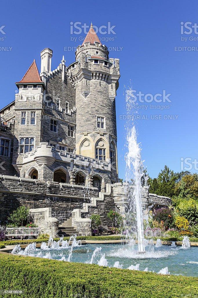 Canadian Landmark: Castle in Toronto stock photo