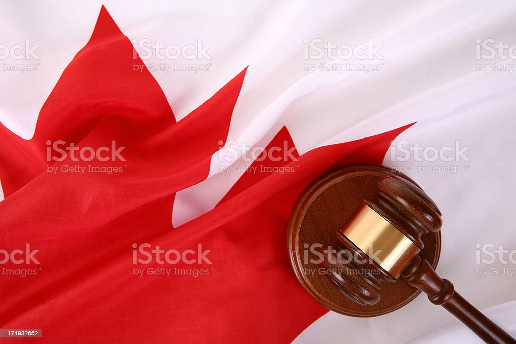 Canadian Law royalty-free stock photo