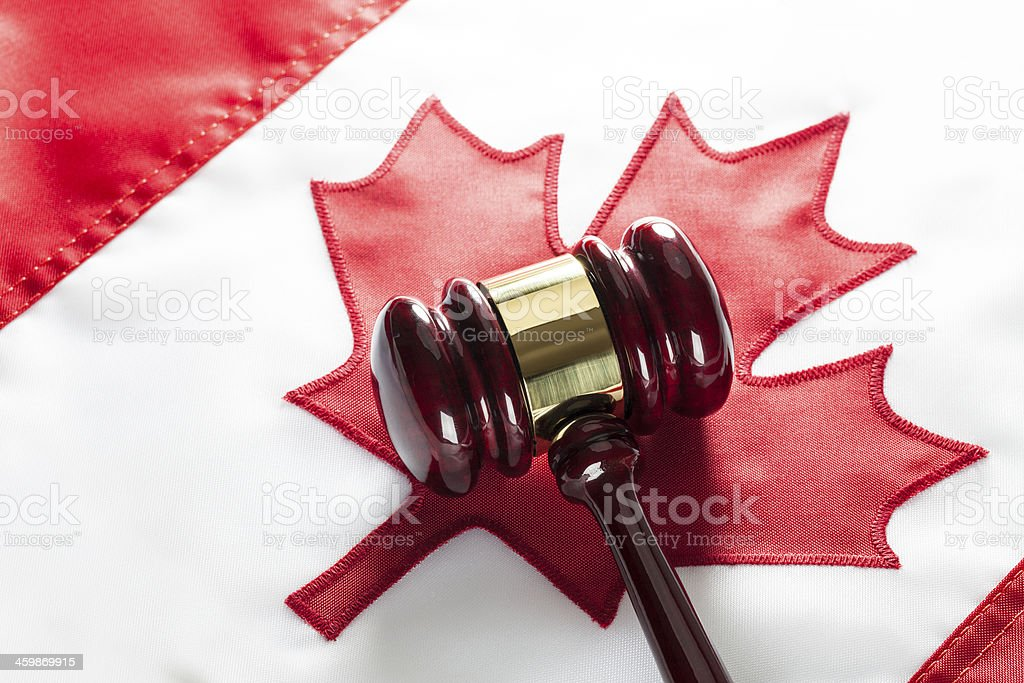 Canadian Law stock photo