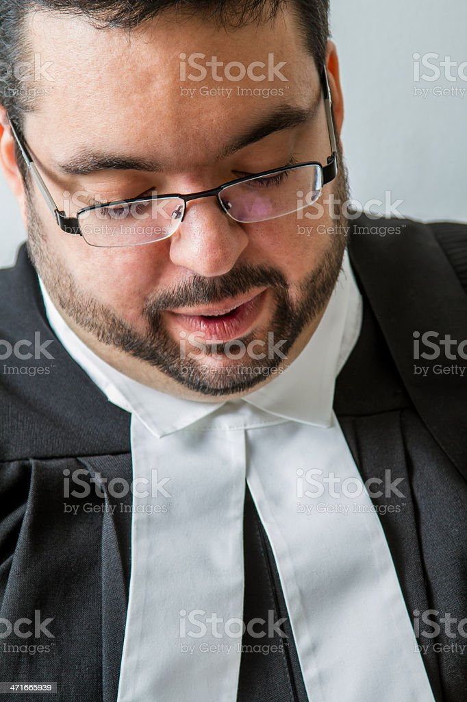 Canadian lawyer royalty-free stock photo
