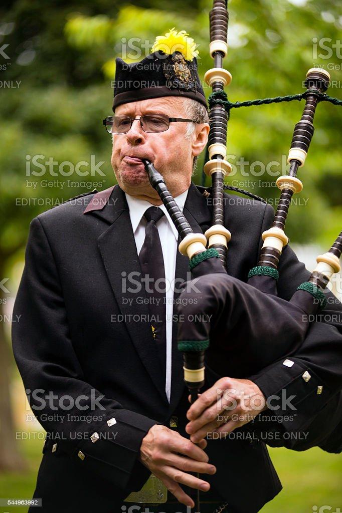 Canadian Legion Bagpipe Band stock photo