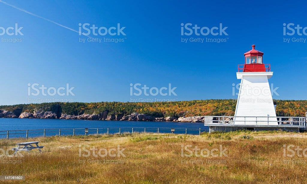 Canadian Light house stock photo