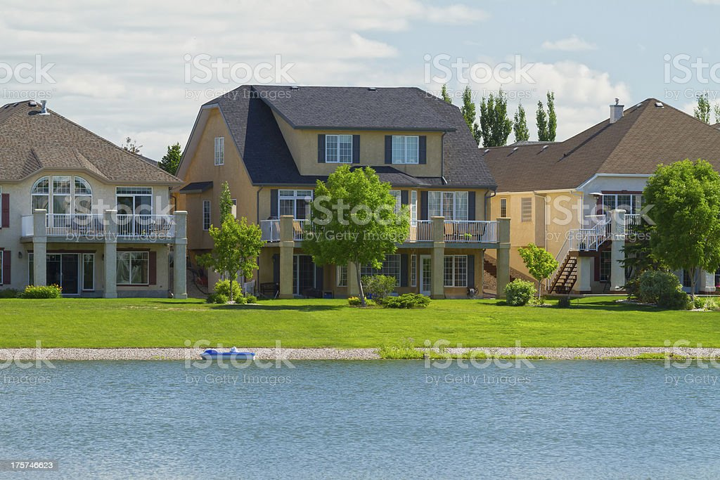 Canadian luxury  houses in Manitoba royalty-free stock photo