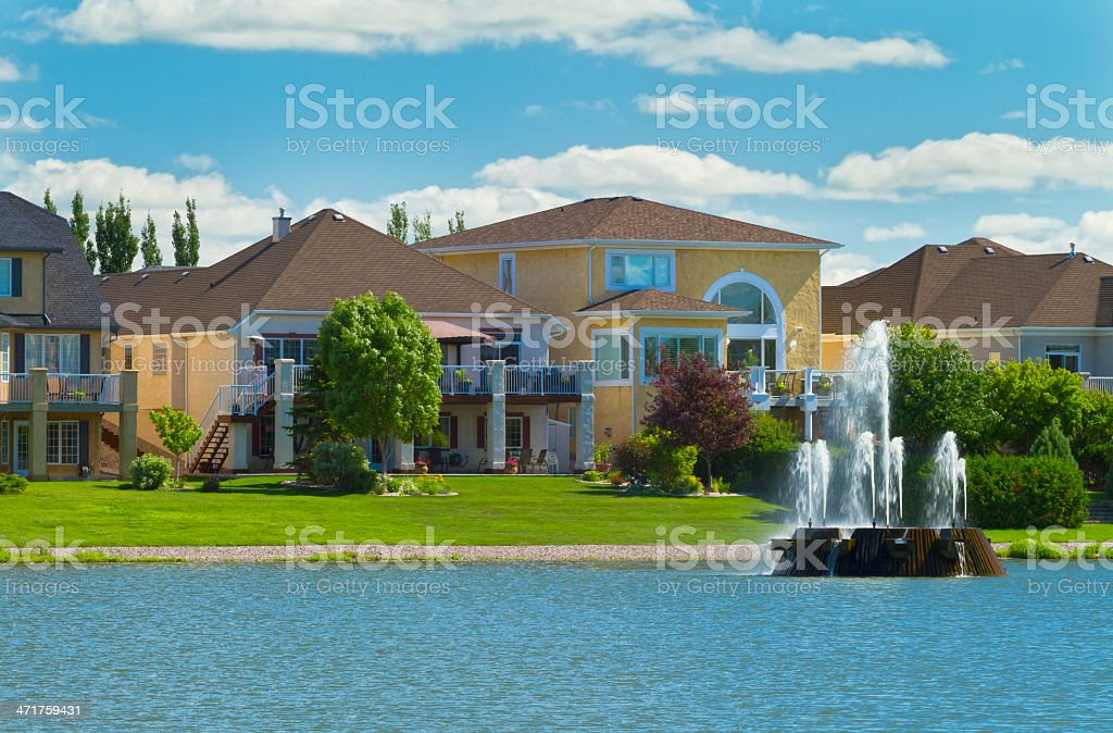 Canadian luxury houses in Manitoba stock photo