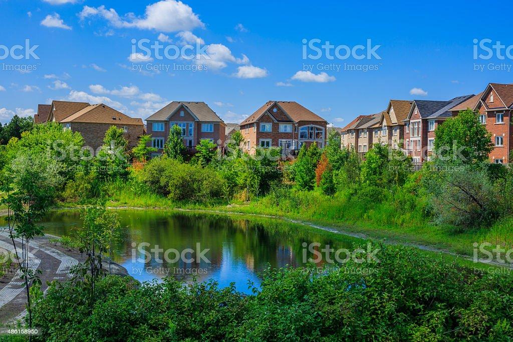 Canadian luxury  houses in Toronto stock photo