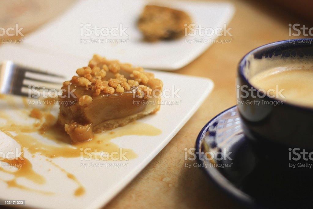 Canadian Maple Cream Pie, Coffee stock photo
