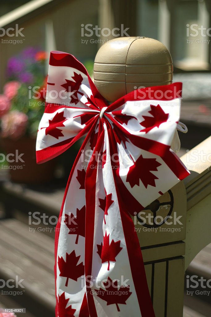 Canadian Maple Leaf  Bow royalty-free stock photo