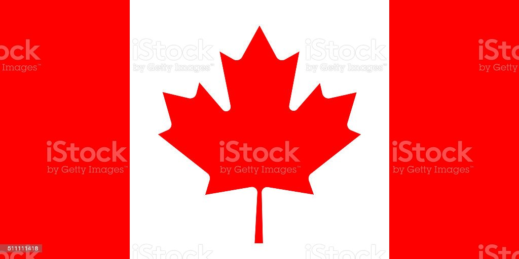 Canadian Maple Leaf Flag stock photo