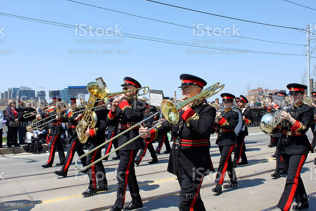 Canadian Marching Band royalty-free stock photo
