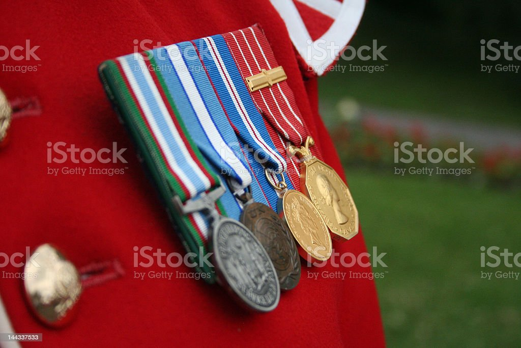 Canadian medals royalty-free stock photo