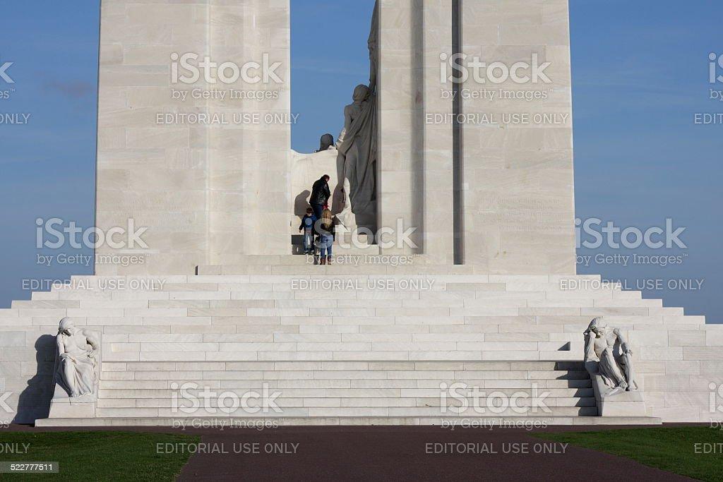 Canadian memorial of vimy stock photo