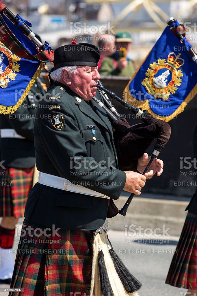 Canadian Military Bagpipes royalty-free stock photo