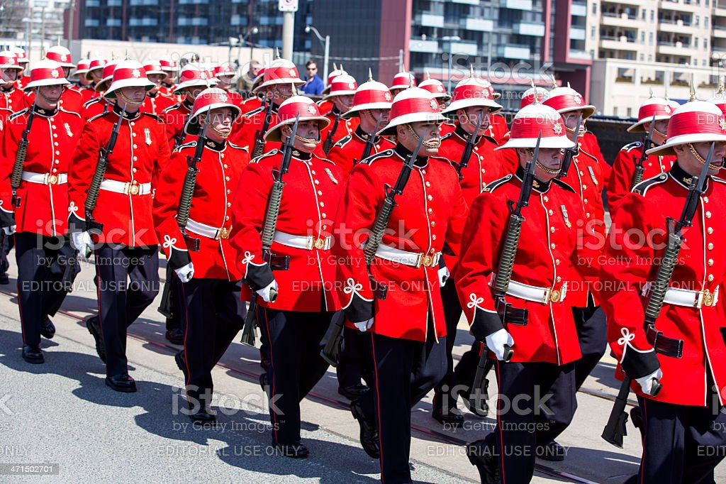 Canadian Military Parade royalty-free stock photo