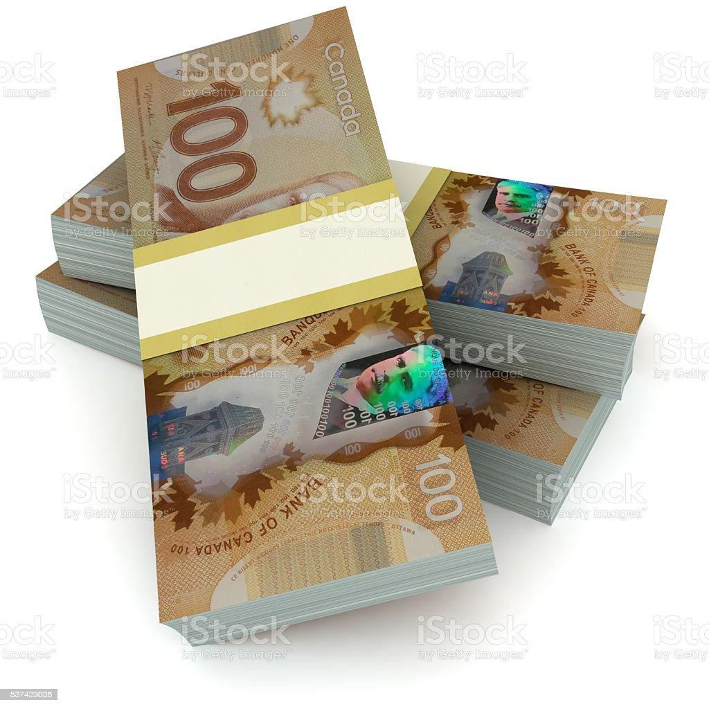 Canadian money concept stock photo