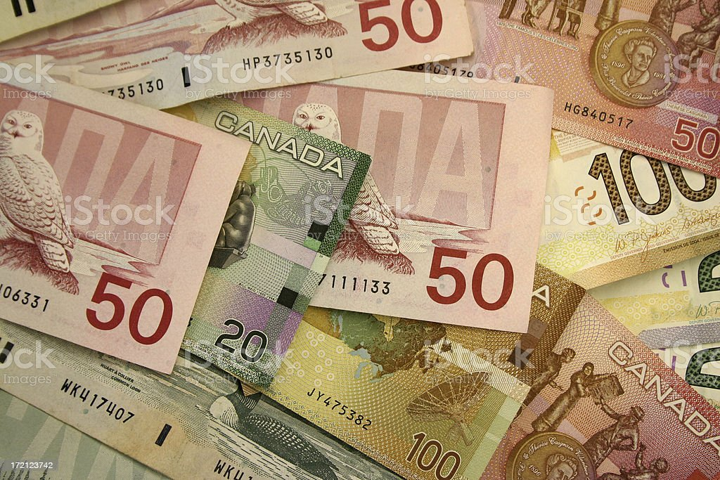 Canadian Money royalty-free stock photo