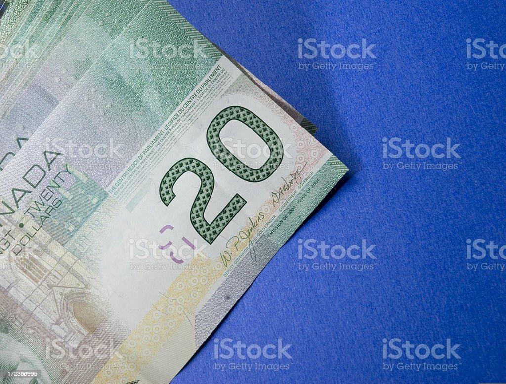 Canadian Money stock photo