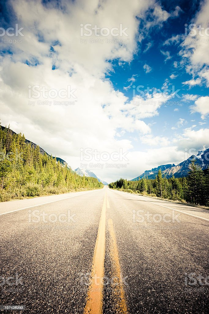 Canadian Mountain Highway stock photo