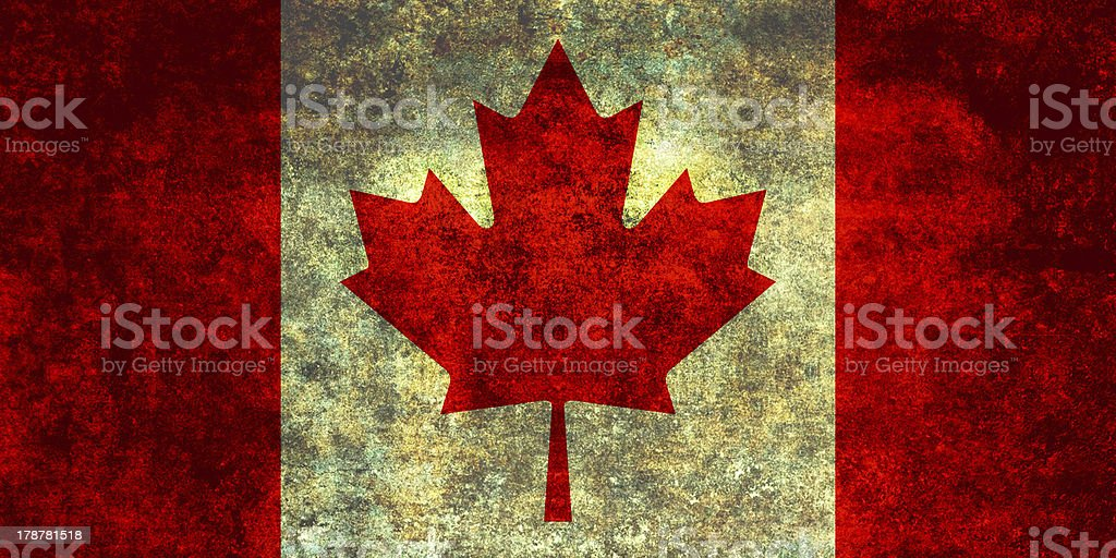 Canadian National Flag royalty-free stock photo