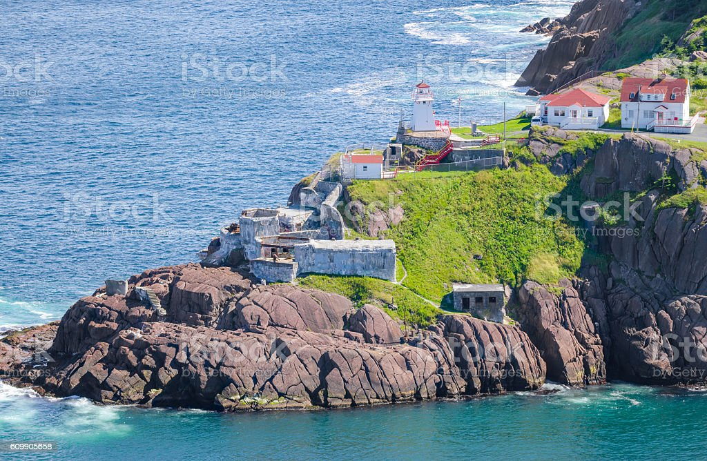 Canadian National Historic Site, Fort Amherst, St John's Newfoundland, Canada. stock photo