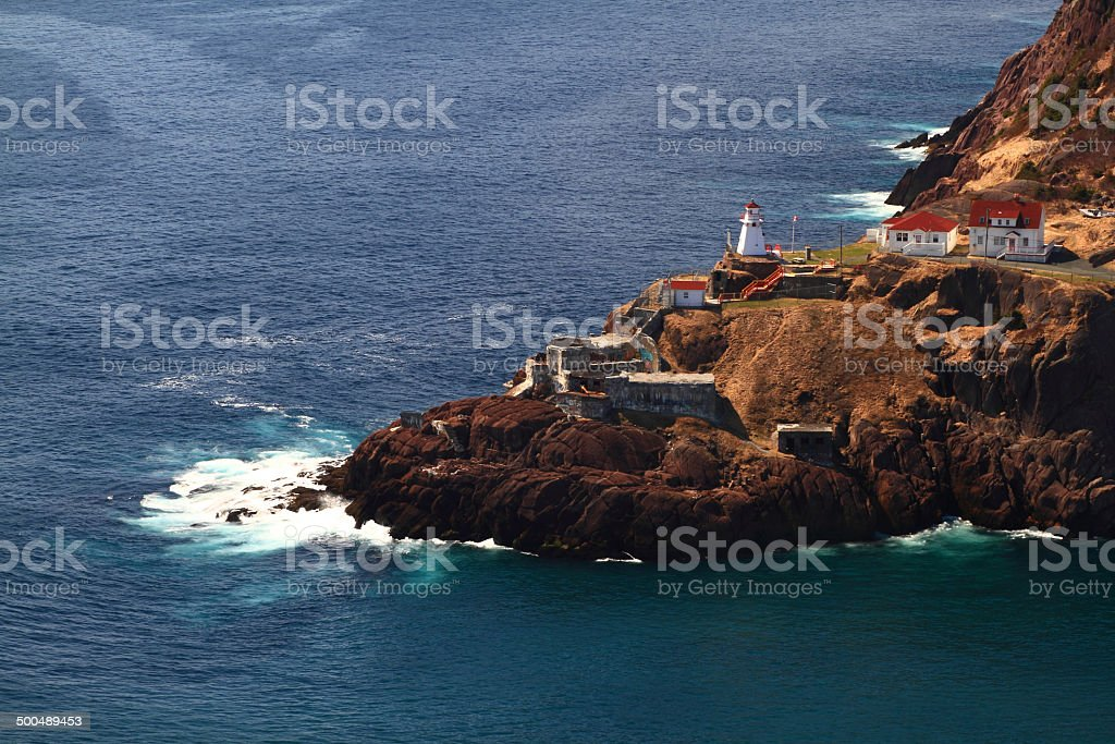 Canadian National Historical Site Fort Amherst, WWII bunkers stock photo