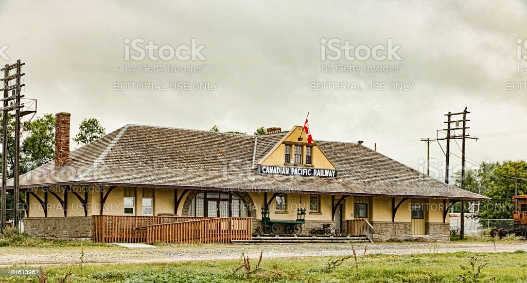 Canadian Pacific Railway Station in Portage La Prairie Manitoba stock photo
