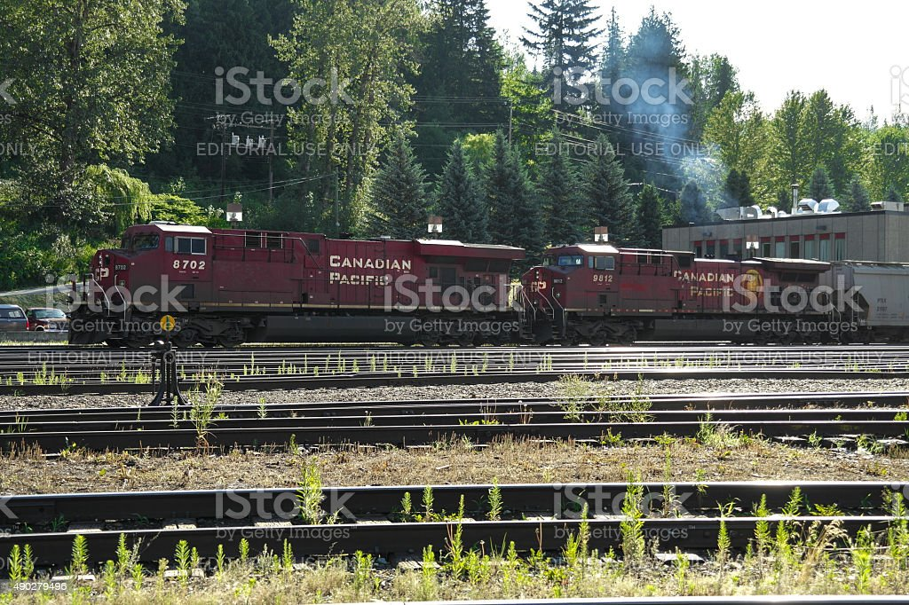 Canadian Pacific Railway Train stock photo