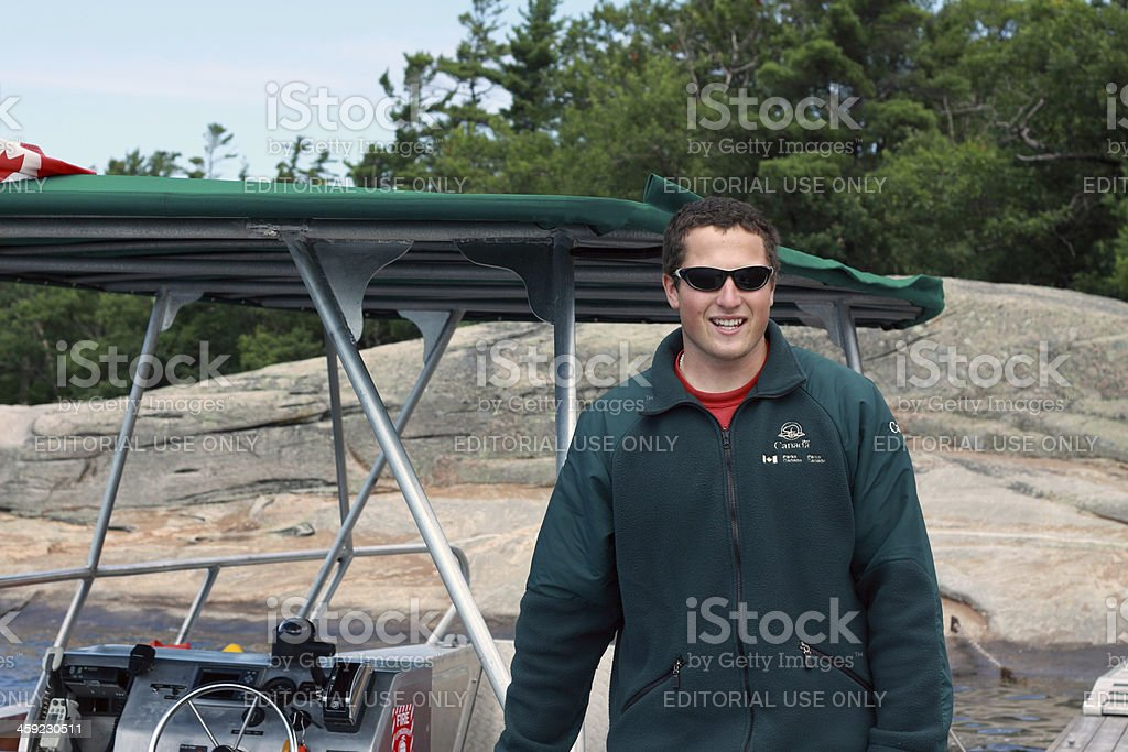 Canadian Park Ranger stock photo