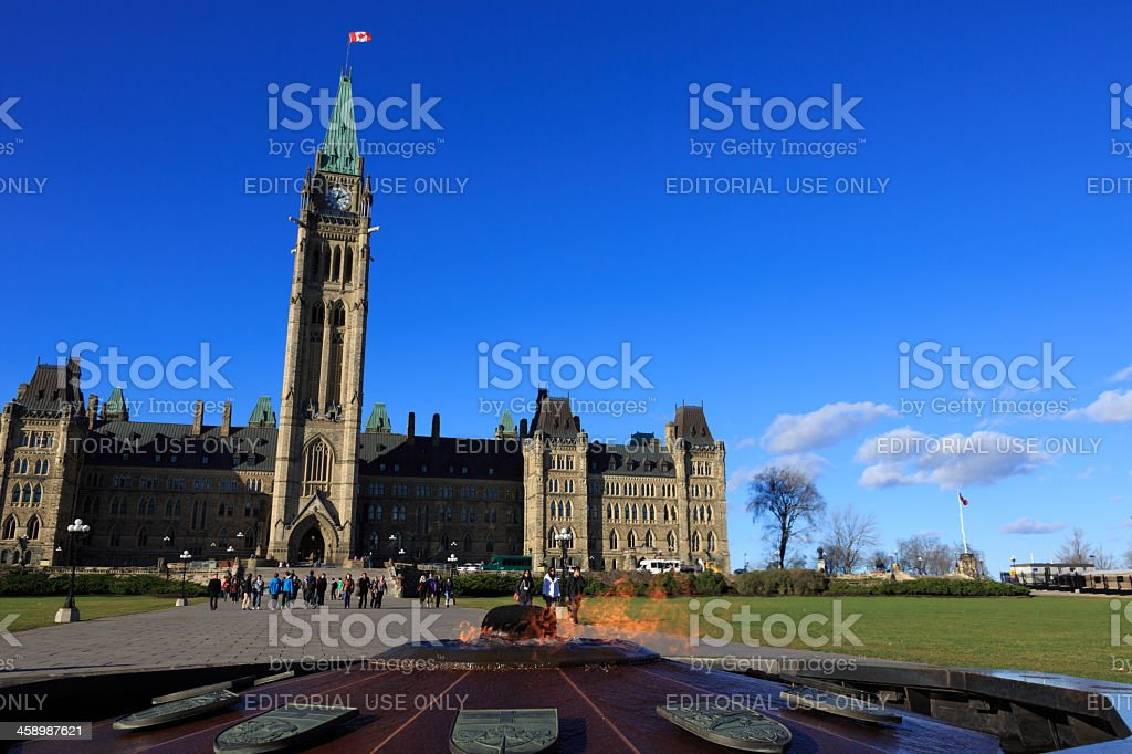 Canadian Parliament House on Blue Sky, Ottawa, Canada royalty-free stock photo