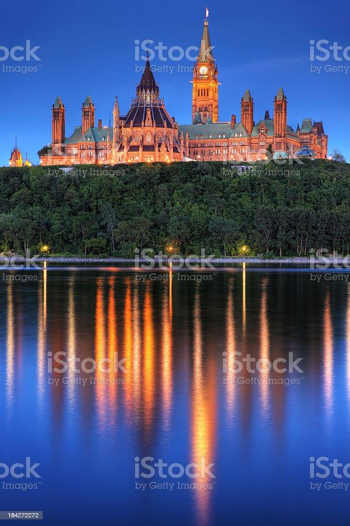 Canadian Parliament in Ottawa City stock photo