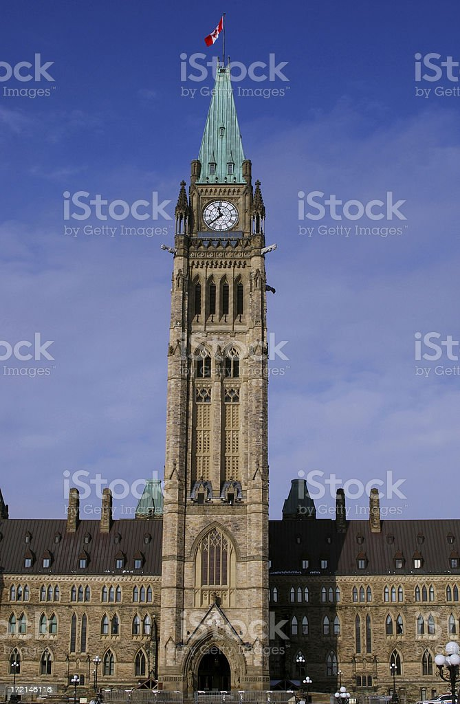 Canadian parliament in Ottawa royalty-free stock photo