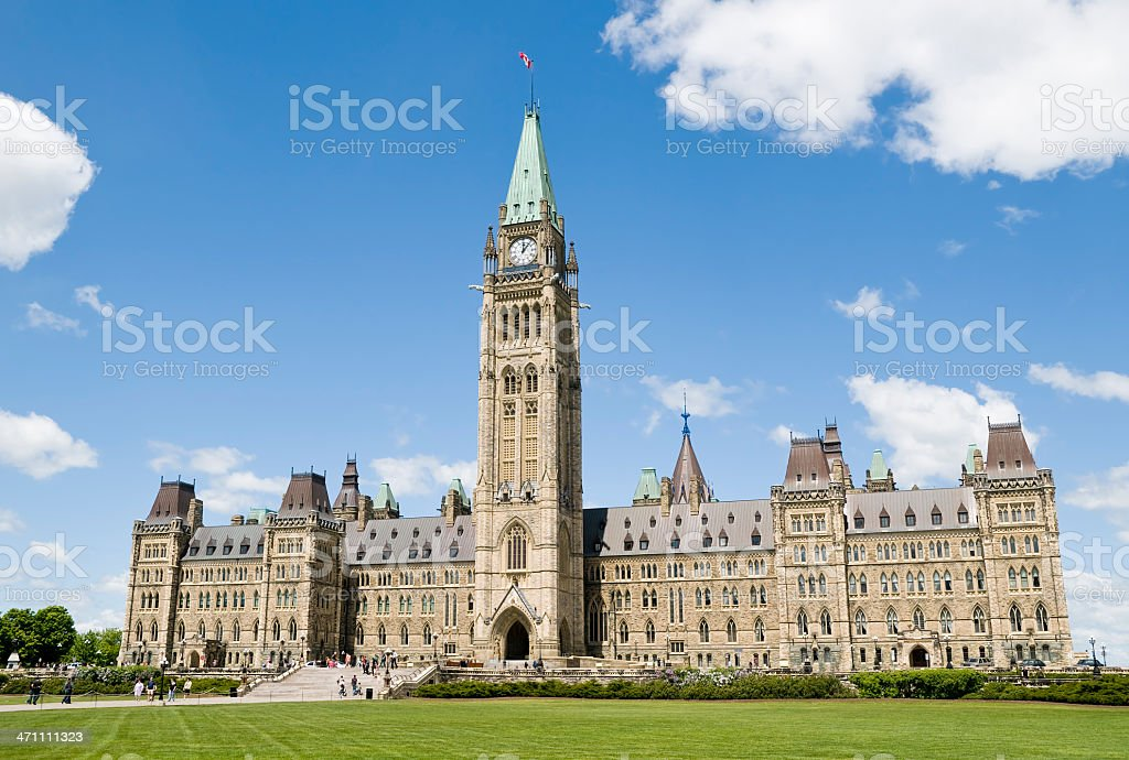 Canadian parliament on a sunny day royalty-free stock photo