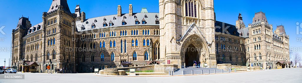 Canadian Parliament stock photo