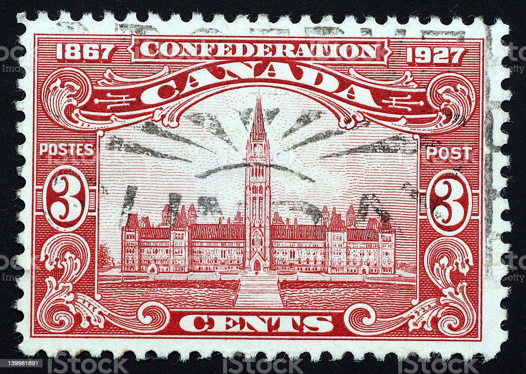 Canadian Parliament stamp royalty-free stock photo