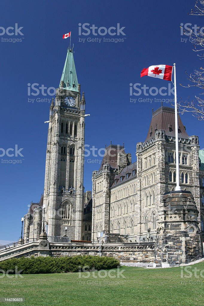Canadian Parliament, view from right side royalty-free stock photo