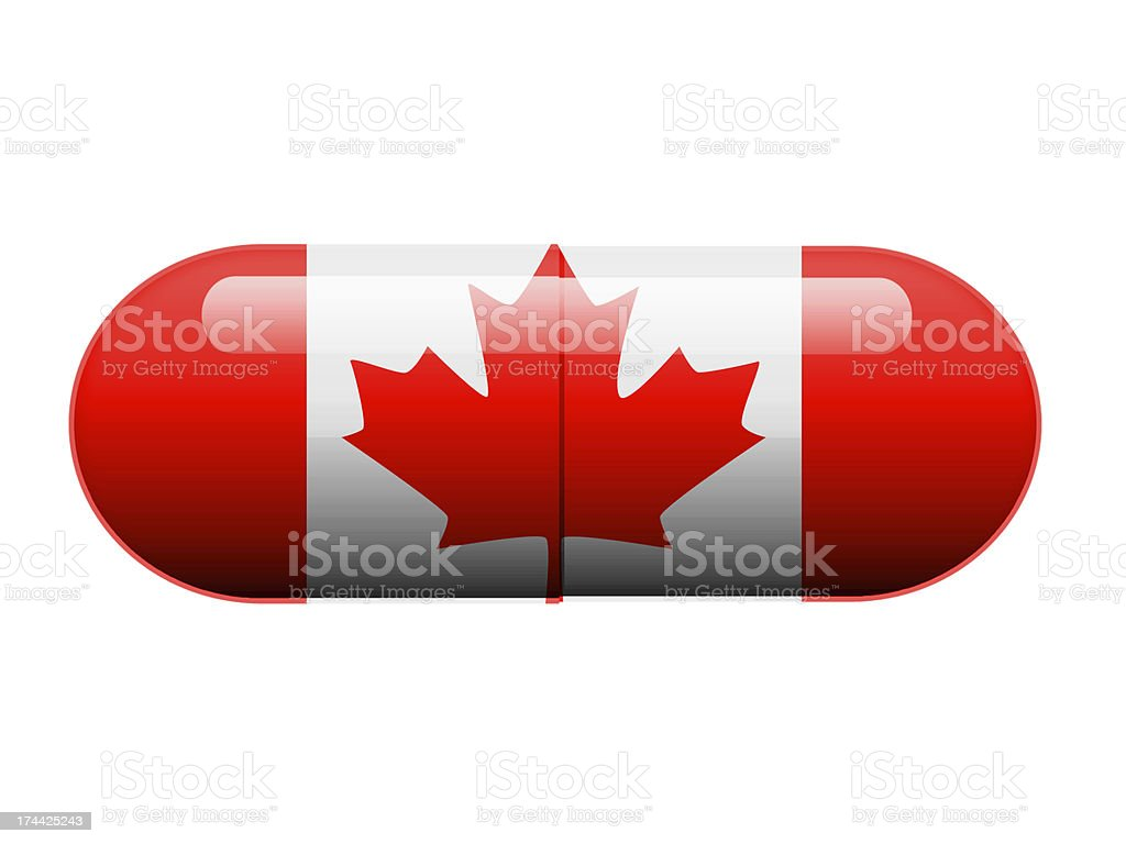 Canadian Pill royalty-free stock photo