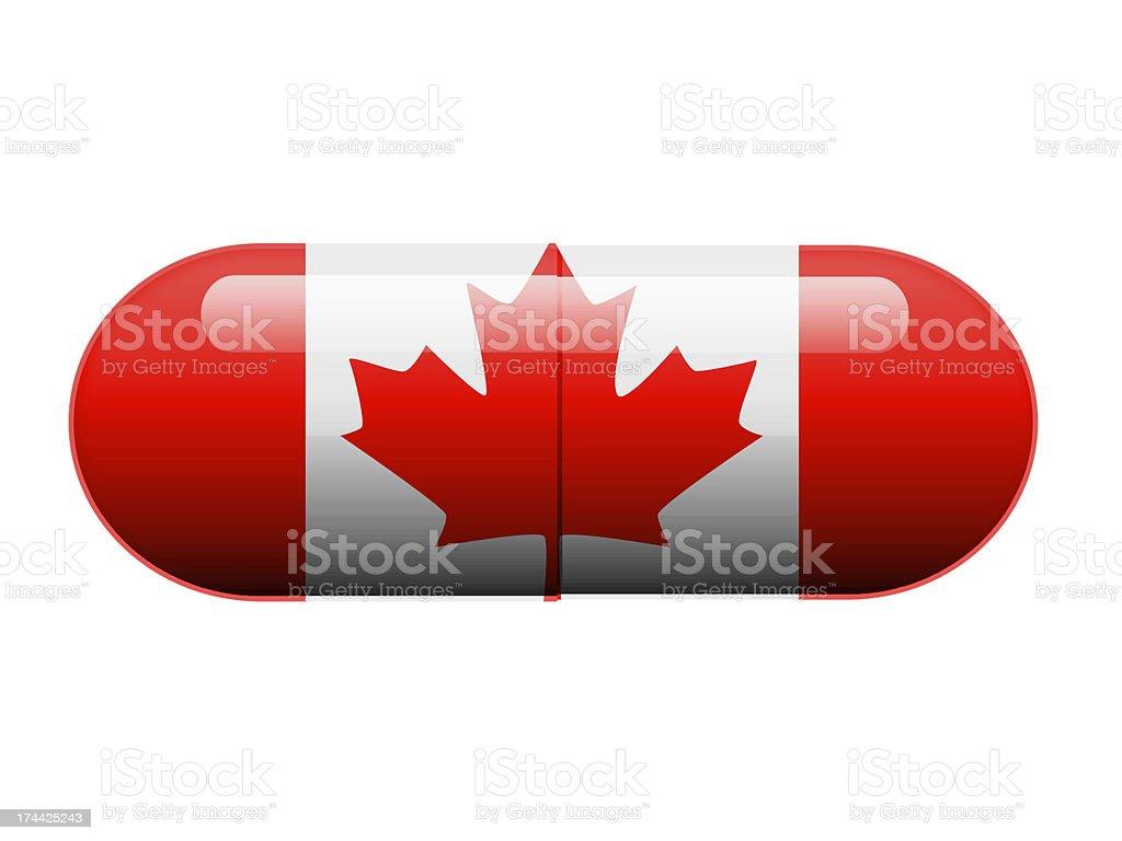Canadian Pill stock photo