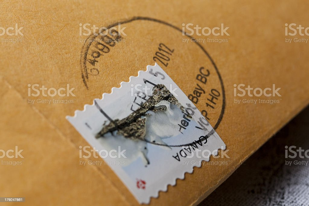 Canadian postage stamp royalty-free stock photo