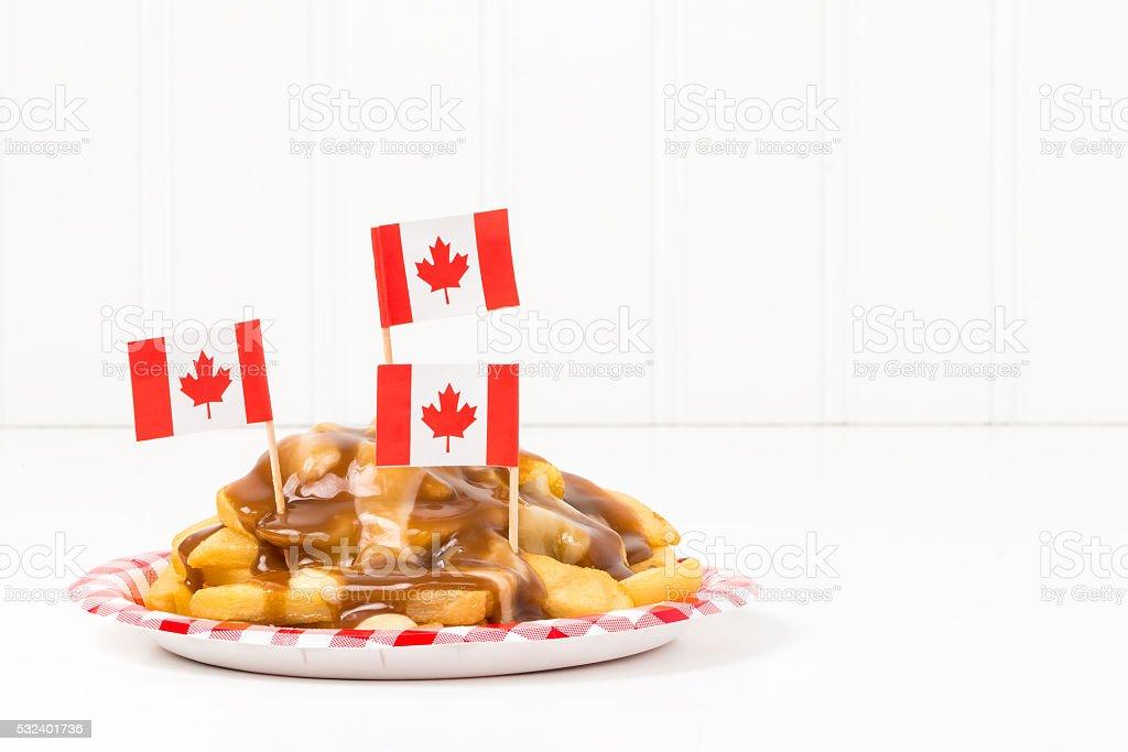 Canadian Poutine stock photo