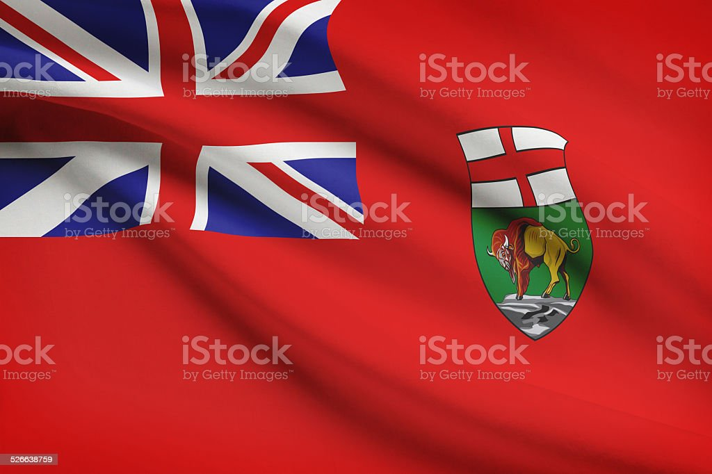 Canadian provinces flags series - Manitoba stock photo