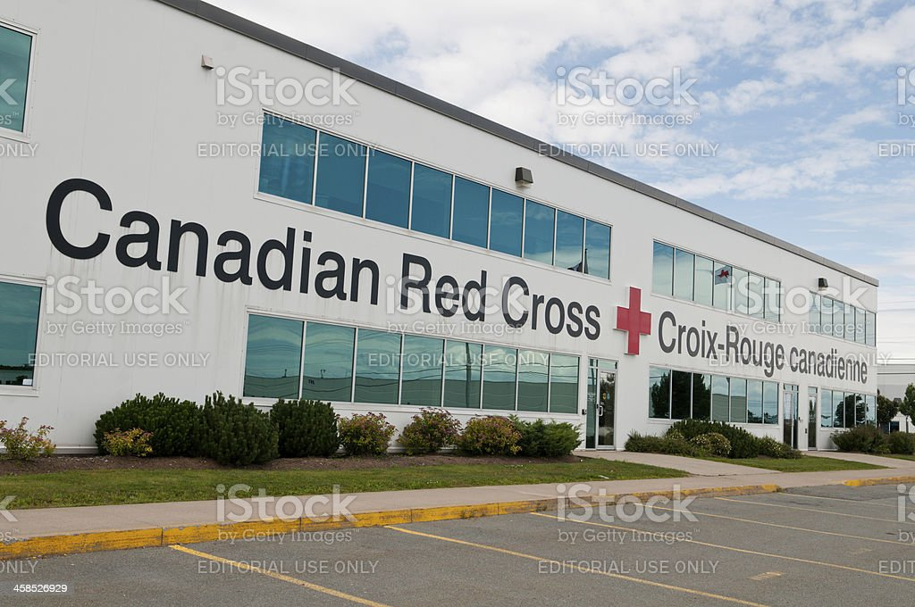 Canadian Red Cross stock photo