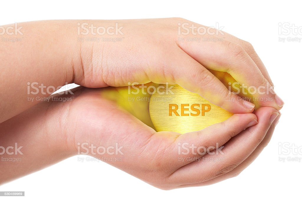 Canadian Registered Education Savings Plan, RESP concept with tw stock photo
