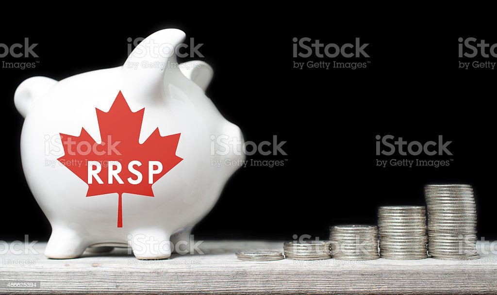 Canadian Registered Retirement Savings Plan concept stock photo